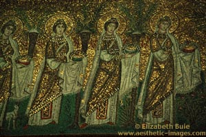 Mosaic of female saints, church of Sant'Apollinare Nuovo, Ravenna (copyright Elizabeth Buie)