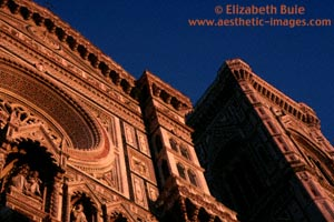 Duomo and Tower of Giotto in late afternoon, Florence (copyright Elizabeth Buie)