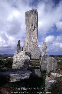 Central menhir and burial chamber, Callanish (copyright Elizabeth Buie)